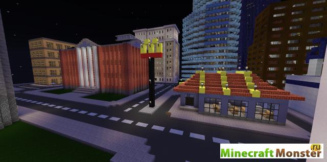 майнкрафт скачать карту город на андроид - фото 6
