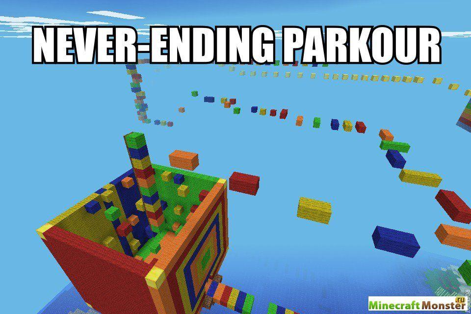 скачать паркур карту паркур для Minecraft 1 - фото 2