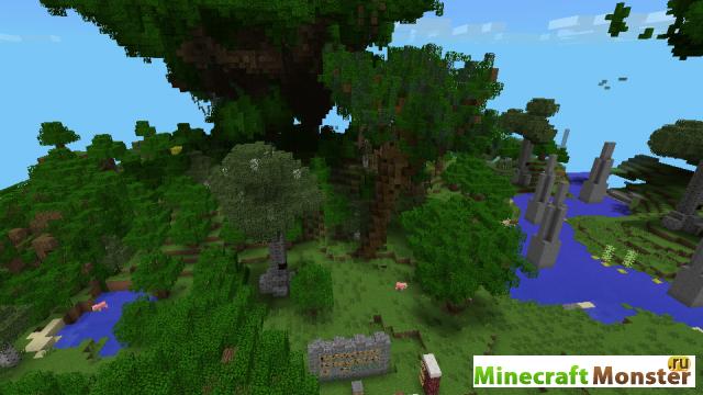 Скачать карту лагерь в лесу для minecraft