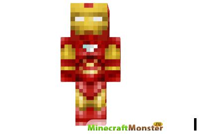 скачать скин для Minecraft железного человека - фото 2