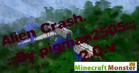 Карта Alien Crash на выживание для Minecraft Pocket Edition