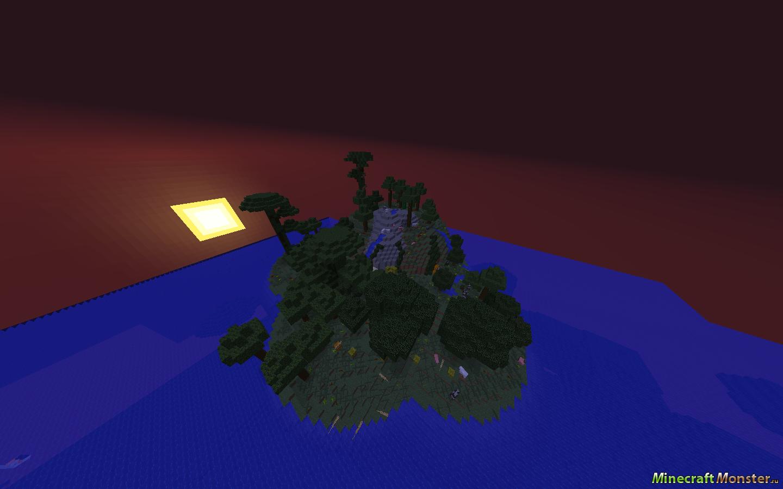 Пушистые Острова Карта Майнкрафт - YouTube