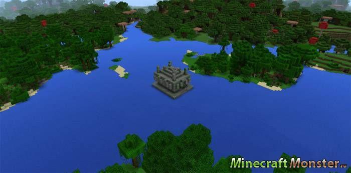 Сид в майнкрафт на храм под водой