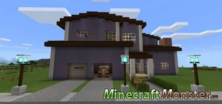 Карта Redstone Neighborhood для Minecraft PE 1.1