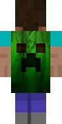 Оригинальный зеленый плащ крипера для Minecraft