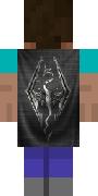 Черный плащ с драконом для Minecraft
