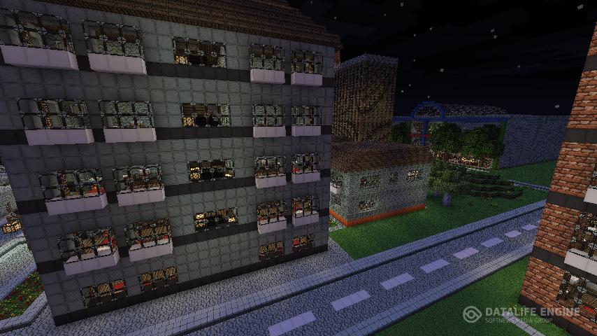 скачать карту для minecraft город ютуберов
