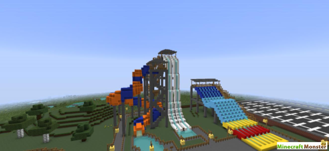 Майнкрафт парк развлечений | остров парк Olann