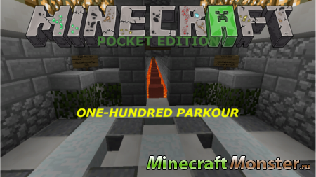 Карта 100 Parkour для Minecraft Pocket Edition