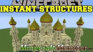 мод Instant Massive Structures 1.11.2/1.10.2/1.9/1.7.10 Minecraft PC