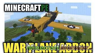 Мод на самолет для Minecraft PE 1.0.4 [war place]