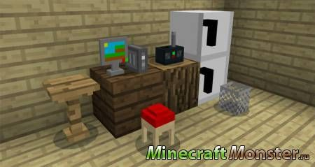 Мод Mine-Furniture Addon для Minecraft PE 1.2