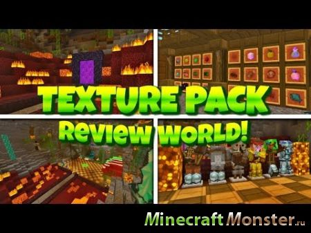 Карта Texture Pack Review Map для Minecraft PE 1.2