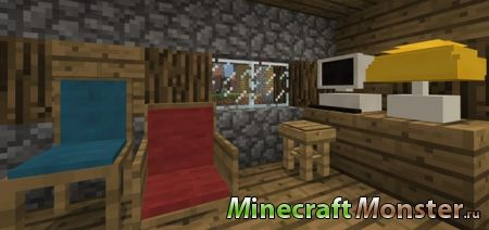 Мод Vanilla Furniture Addon для Minecraft PE 1.2