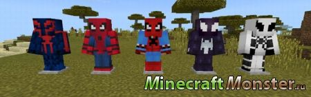 Мод Spider-Man Add-on для Minecraft PE 1.2